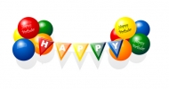 Happy Birthday Balloon Vector material