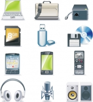 Digital Equipment Vector Icons material