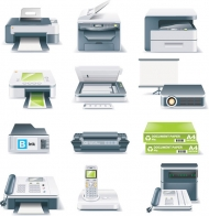 Office Equipment icon vector material