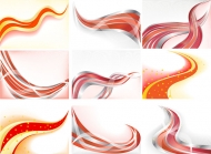 Cool dynamic lines of the background vector material