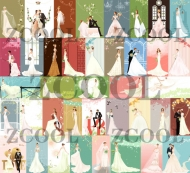 40 beautiful wedding bride vector material