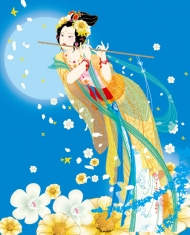 Flying Fairy vector images -7