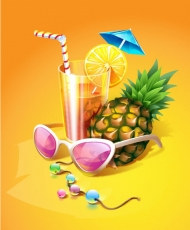 Zest Summer drinks vector material