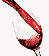 Red wine and cup vector material