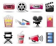 Movie icon vector material