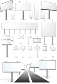 Blank billboard series of vector material