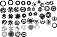 Series of black and white design elements vector material -1