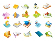 Book series, one of the icon vector material