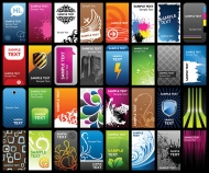 A variety of card template vector material trends
