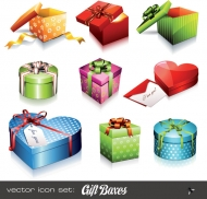 Holiday gift icon vector material