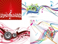 5, the trend of dynamic musical elements vector material