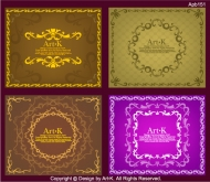 4 simple European-style lace Vector material