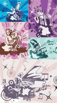 The trend of Music and Art Vector material