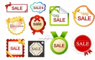 10 lovely sales discount tag vector material