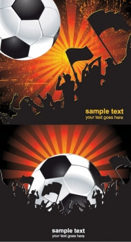 Vector material fanatical football fans