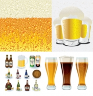Beer Series Vector material
