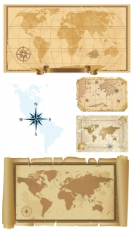 Old map of vector material