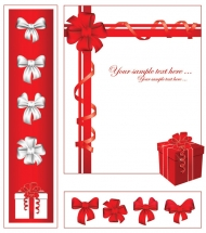 Gift ribbon vector material