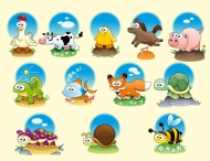 Cartoon animals vector material