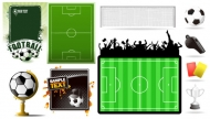 Football Theme Vector material