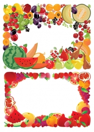 2 fruit border vector material
