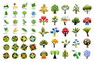 Plant icon vector material