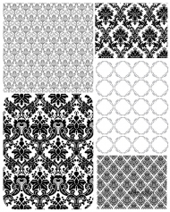 5 European lace pattern vector material