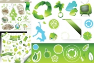 3 sets of environmental icon vector material