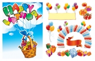 Happy Birthday 2 vector material