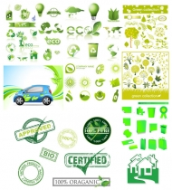 Variety of environmental icon vector material