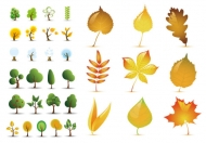 Tree leaves Vector material
