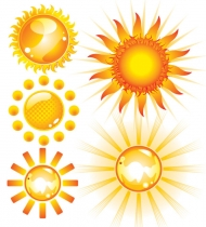 Lovely sun vector material