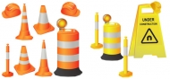 Roadblocks vector material