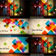 Vector background of colorful crystal box