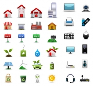 3 sets of icons Vector