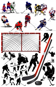 Ice Hockey Players - Vector