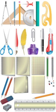 Office supplies Icon - Vector