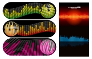 Dynamic music background vector material