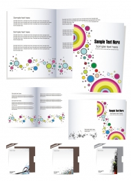 Beautiful stationery folding and Vector