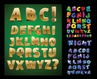 Three-dimensional letters Vector