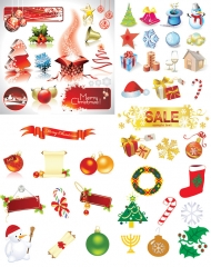 Vector Christmas decorative elements