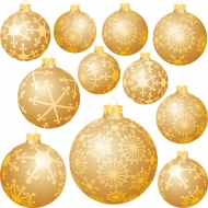 Christmas decorations Vector snow ball