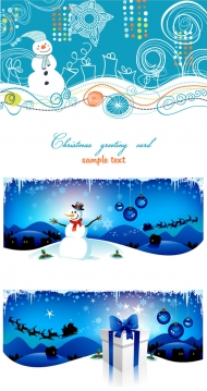 Cartoon Christmas background - vector material