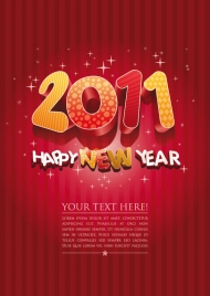 2011 lovely three-dimensional word vector material