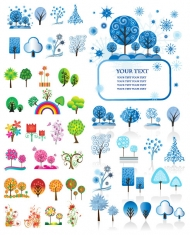 Vector lovely trees