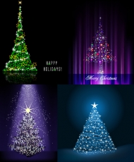 Flash Christmas tree vector material