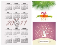 Calendar Year of the Rabbit 2011 Vector Illustrations