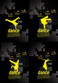 Vector templates dance posters
