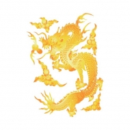 Yellow Dragon (Vector Design)