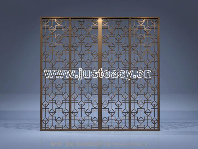 chinese style folding screen four  screen  decoration  displ